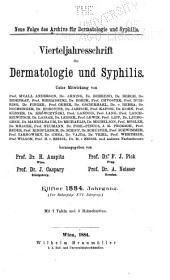 Vierteljahrsschrift für Dermatologie und Syphilis: Band 11;Band 16
