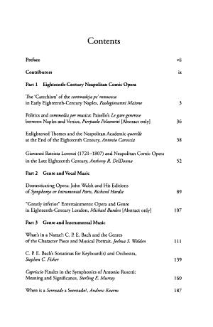 Genre in Eighteenth century Music PDF
