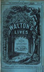 Walton's Lives, with notes. The life of dr. Donne [ed. by T.E. Tomlins].