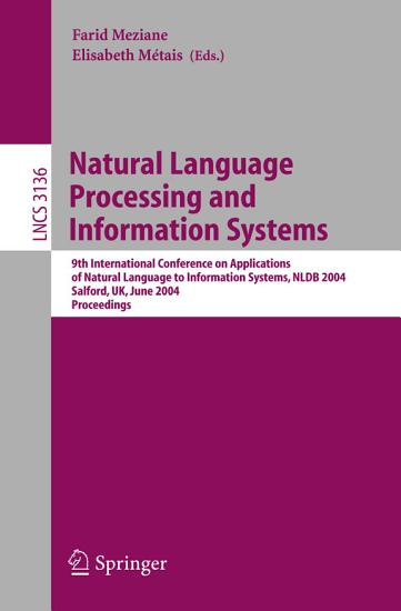 Natural Language Processing and Information Systems PDF