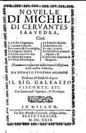Novelle. Nuovamente trasportate dalla lingua Castigliana nella nostra Italiana da Donato Fontana