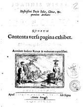 Ioannis Wieri, ... Opera omnia. Quorum contenta versa pagina exhibet