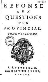 Réponse aux questions d'un provincial