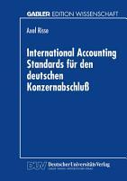 International Accounting Standards f  r den deutschen Konzernabschlu   PDF