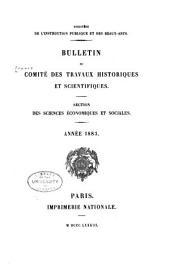 Bulletin du Comité des Travaux Historiques et Scientifiques, Section des Sciences Économiques et Sociales