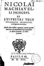 Princeps, ex Sylvestri Telii Fulginatis traductione diligenter emendata