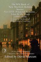 The MX Book of New Sherlock Holmes Stories Part XVII PDF