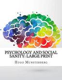 Psychology and Social Sanity PDF