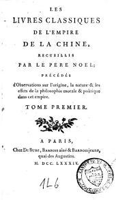Les livres classiques de l'empire de la Chine: Volume1