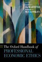 The Oxford Handbook of Professional Economic Ethics PDF