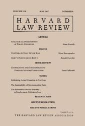 Harvard Law Review: Volume 130, Number 8 - June 2017