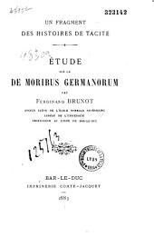 Etude sur le De Moribus Germanorum de Tacite