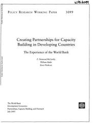 Creating Partnerships For Capacity Building In Developing Countries Book PDF