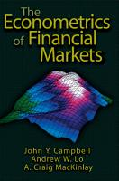 The Econometrics of Financial Markets PDF