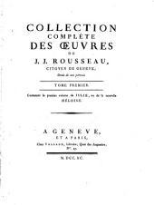 Collection complète des oeuvres de J.J. Rousseau: Volume1