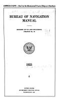 Bureau of Navigation Manual PDF