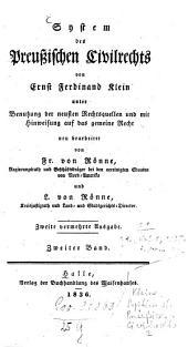 System des Preußischen Civilrechts: Band 2