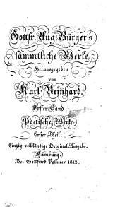 Sämmtliche Werke: Poetische Werke ; 1, Volume 1