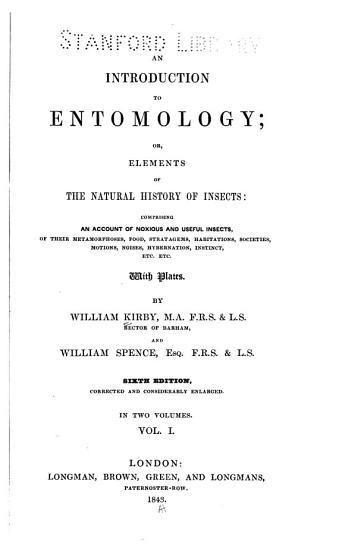 An Introduction to Entomology PDF