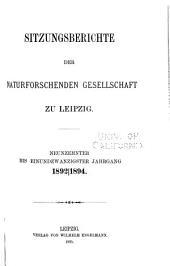 Sitzungsberichte: Bände 19-23