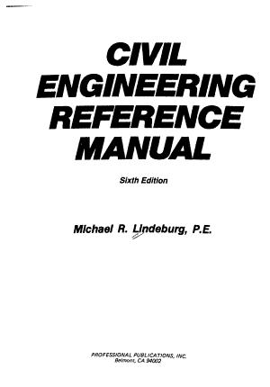 Civil Engineering Reference Manual PDF