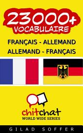 23000+ Français - Allemand Allemand - Français Vocabulaire