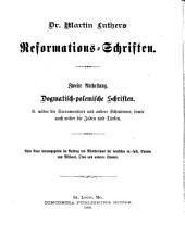 Dr. Martin Luthers Sämmtliche schriften: Band 20