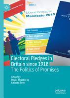 Electoral Pledges in Britain Since 1918 PDF