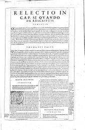 Martini Azpilcuetae doctoris Nauarri ... Opera, in tres, et eiusdem Consilia in duos tomos distincta, vt et separatim haberi possint, digesta: Martini ab Azpilcueta ... Operum tomus secundus. In quo ea commentaria fuerunt reposita, quæ viuo ipso super aliquot capita Decretalium D. Gregorij 9. & Extrauagantem fœl. record. Gregorij 13. quæ incipit, Ab ipso, impressa fuerunt, quibus insuper illa nondum edita, & manuscripta opera nunc adiecimus, quæ partim in aliqua Decreti capita, partim in Decretalium volumen conscripta, nunc primùm in lucem prodeunt. ..., Volume 2