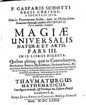 Magia universalis natura et artis: Volume 3