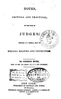 Notes  Critical and Practical  on the Book of Judges PDF