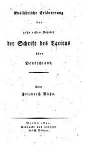 Die zehn ersten Kapitel der Schrift über Deutschland