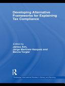 Developing Alternative Frameworks for Explaining Tax Compliance