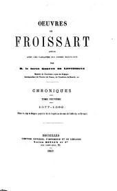 Chroniques de Froissart: 1377-1382
