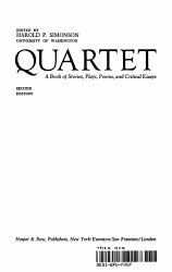 QUARTET A Book of Stories  Plays  Poems  and Critical Essays PDF