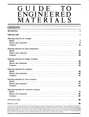 Guide to Engineered Materials PDF