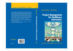 Project Management for Healthcare Informatics PDF