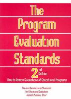 The Program Evaluation Standards PDF