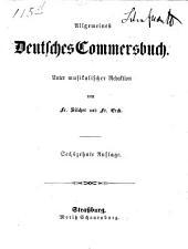 Allgemeines Deutsches Commersbuch: Unter musikalischer Redaktion von Fr. Silcher und Fr. Erik