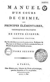 Manuel d'un cours de chimie, ou principes élémentaires, théoriques et pratiques de cette science