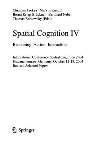 Spatial Cognition PDF