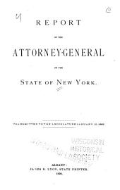 Report of the Attorney General of the State of New York