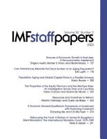 IMF Staff Papers  Volume 50  No  2  2003 PDF