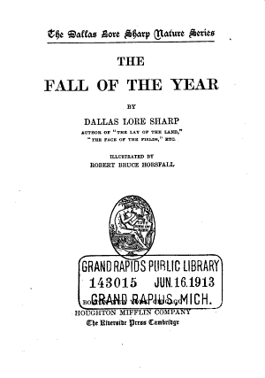The Fall of the Year PDF