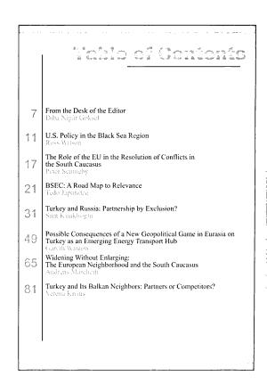 Turkish Policy Quarterly PDF
