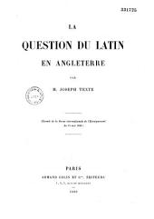 La question du latin en Angleterre