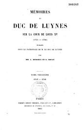 Mémoires du duc de Luynes sur la Cour de Louis XV: 1735-1758