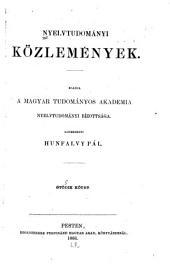 Nyelvtudományi közlemények: 5. kötet,3. rész