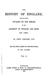 The History of England: From the First Invasion by the Romans to the Accession of William and Mary in 1688, Volume 10