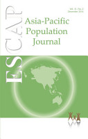 Asia Pacific Population Journal Vol 31  No 2  December 2016 PDF